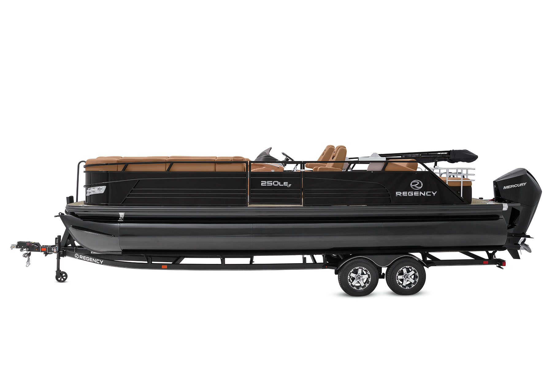Profile view of 250 LE3 Sport Pontoon